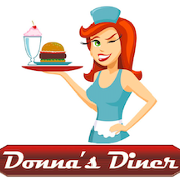 This is the restaurant logo for Donna's Diner