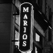 This is the restaurant logo for Mario's Saloon
