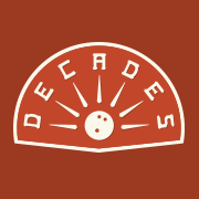 This is the restaurant logo for Decades