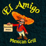This is the restaurant logo for El Amigo Mexican Grill