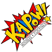 This is the restaurant logo for Kapow! Noodle Bar