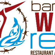 This is the restaurant logo for Barbed Wire Reef Restaurant