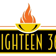 This is the restaurant logo for Eighteen 36 Restaurant & Lounge