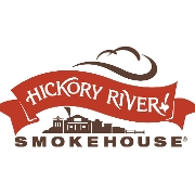 This is the restaurant logo for Hickory River Smokehouse