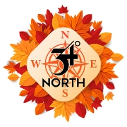 This is the restaurant logo for 34 Degrees North