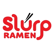 This is the restaurant logo for SLURP RAMEN