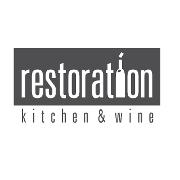 This is the restaurant logo for Restoration Kitchen & Wine