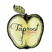 This is the restaurant logo for Taproot Cider House