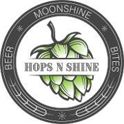 This is the restaurant logo for Hops N Shine