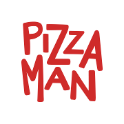 This is the restaurant logo for Pizza Man