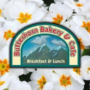 This is the restaurant logo for Butterhorn Bakery & Cafe