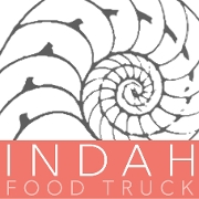 This is the restaurant logo for Indah Sushi