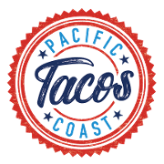 This is the restaurant logo for Pacific Coast Tacos