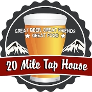 This is the restaurant logo for 20 Mile Tap House