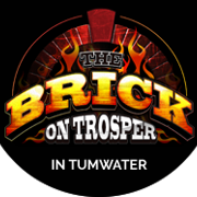 This is the restaurant logo for The Brick on Trosper