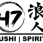 This is the restaurant logo for 47 Sushi & Spirits