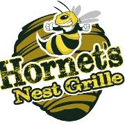 This is the restaurant logo for Hornet's Nest Grille