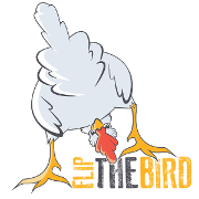 This is the restaurant logo for Flip The Bird