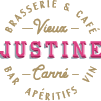This is the restaurant logo for Justine