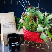 This is the restaurant logo for Blackwater Coffee & Cafe
