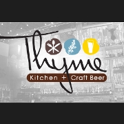 This is the restaurant logo for Thyme Kitchen and Craft Beers