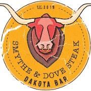 This is the restaurant logo for Smythe & Dove Steak / Dakota Bar