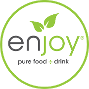 This is the restaurant logo for Enjoy® Pure Food + Drink