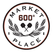 This is the restaurant logo for 600 Degrees Marketplace