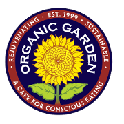 This is the restaurant logo for Organic Garden Cafe