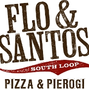 This is the restaurant logo for Flo & Santos