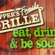 This is the restaurant logo for Pepper's Fireside Grille