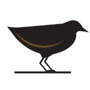 This is the restaurant logo for Black Rail Kitchen + Bar