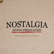 This is the restaurant logo for Nostalgia Wood Fired Oven