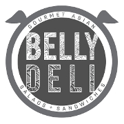 This is the restaurant logo for Belly Deli