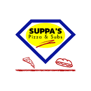 This is the restaurant logo for Suppa's Pizza & Subs