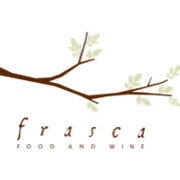 This is the restaurant logo for Frasca Food and Wine