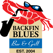 This is the restaurant logo for Backfin Blues Bar & Grill