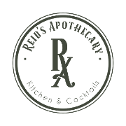 This is the restaurant logo for Reid's Apothecary