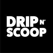 This is the restaurant logo for Drip N Scoop