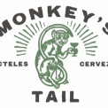 This is the restaurant logo for Monkey's Tail