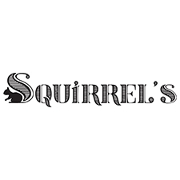 This is the restaurant logo for Squirrel's Pizza