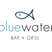 This is the restaurant logo for Bluewater Bar + Grill
