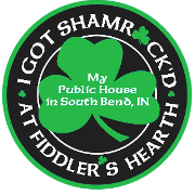 This is the restaurant logo for Fiddler's Hearth