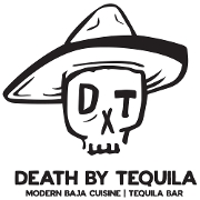 This is the restaurant logo for Death by Tequila