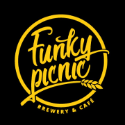 This is the restaurant logo for Funky Picnic Brewery & Cafe