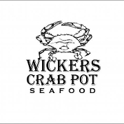 This is the restaurant logo for Wicker's Crab Pot Seafood