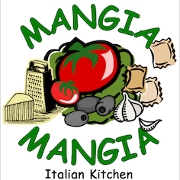 This is the restaurant logo for Mangia Mangia Italian Kitchen