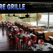 This is the restaurant logo for Lakeshore Grille