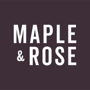 This is the restaurant logo for Maple & Rose