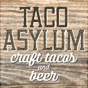 This is the restaurant logo for Taco Asylum